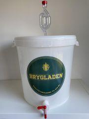 15 liters gærspand med tappehane og gærlås