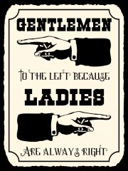 Gentlemen to the left