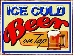 Ice cold beer on tap
